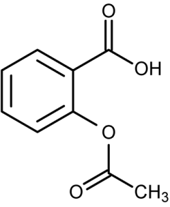 Source: http://chemistry.about.com/od/factsstructures/ig/Chemical-Structures---A/Acetylsalicylic-Acid---Aspirin.htm